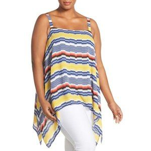 Vince Camuto Sleeveless Blouse Blue Yellow